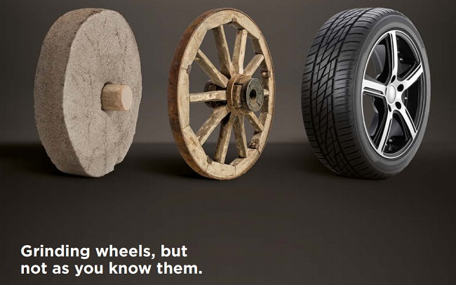 grinding wheels but not as you know them