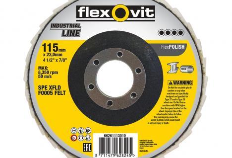 Flexovit Industrial Line FlexPolish 125mm Non-Woven flap discs_74369