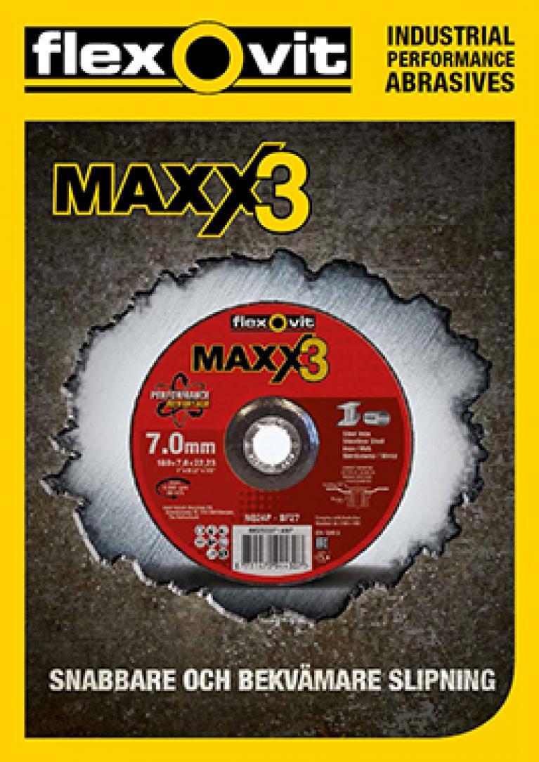 Flexovits navrondell Maxx3 ger snabbaste avverkningen och bekvämaste slipningen