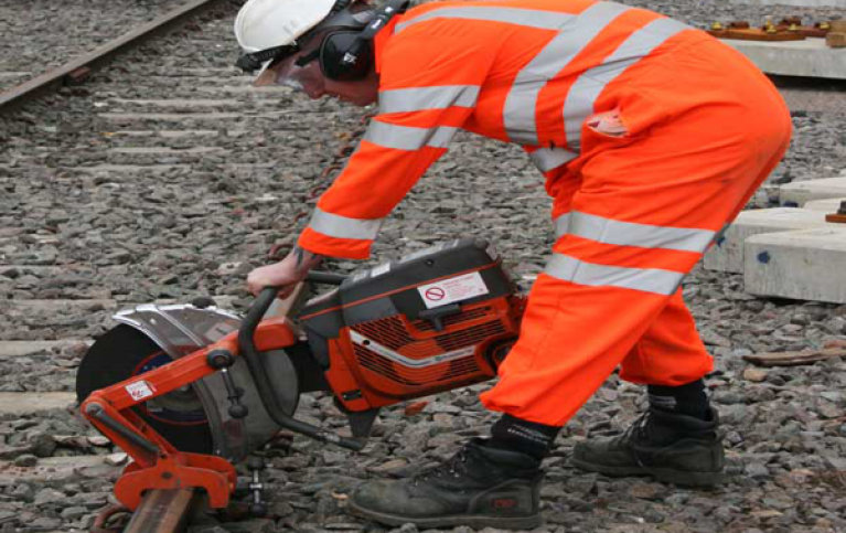 Rail cutting