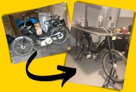 Comment recycler une ancienne mobylette avec Flexovit !