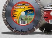 Mega-Line Silent Maxx och Industrial Line Silent diamantklingor.