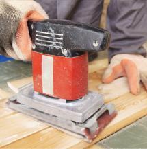 Machine-sanding